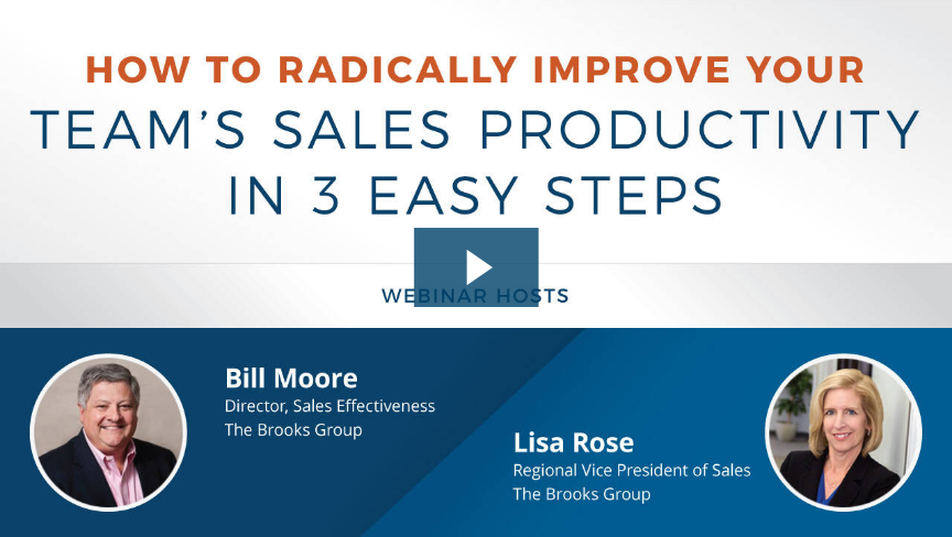 How to Radically Improve Your Teams Sales Productivity in 3 Easy Steps