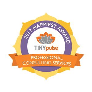TINYpulse Happiest Company Award - Professional Consulting Services category