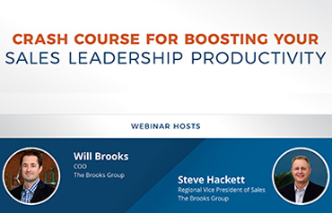 Crash Course for Boosting Your Sales Leadership Productivity