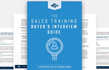 The Sales Training Buyer's Interview Guide